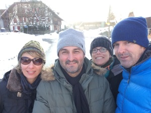 Claudia, Leo, myself and Dani on our walk around Wohlen