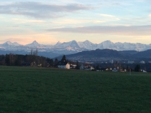 Sunset on the Alps
