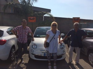 Leo, Bossy and Tony with our hire car :)