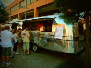 A very funky food van